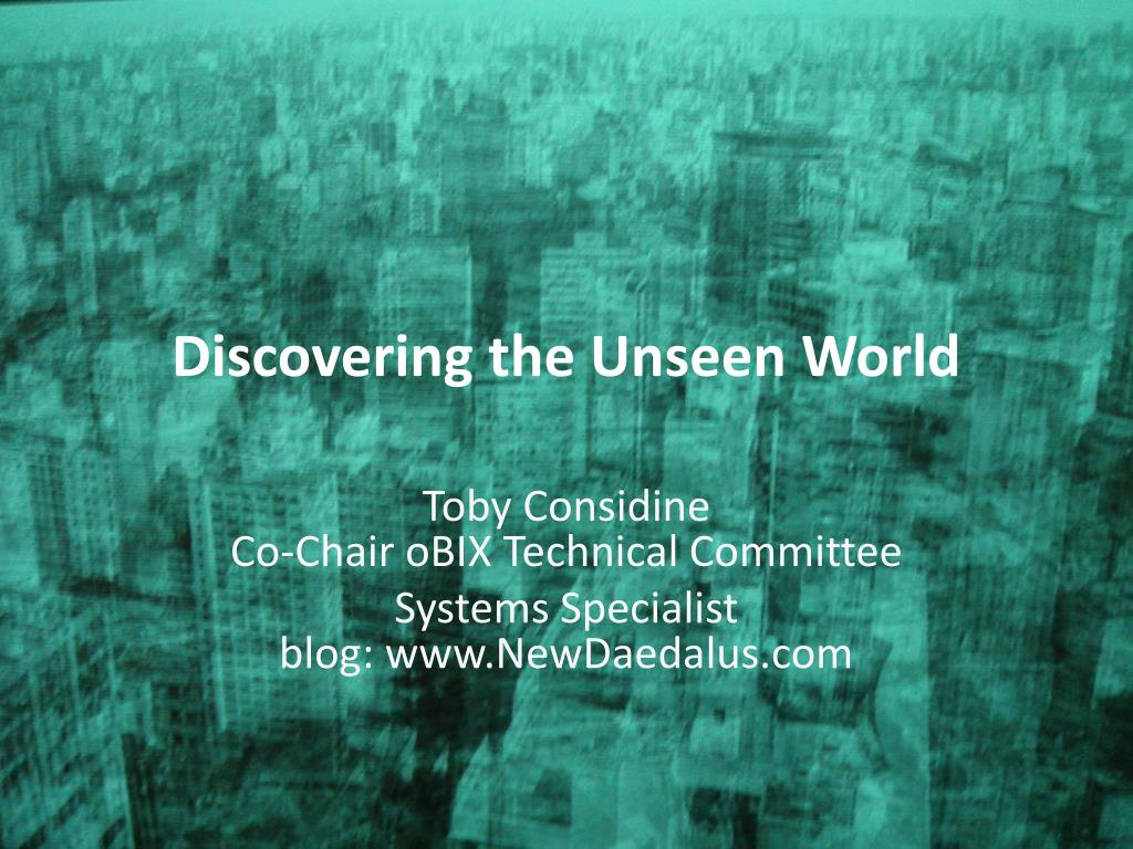 discovering the unseen world l.