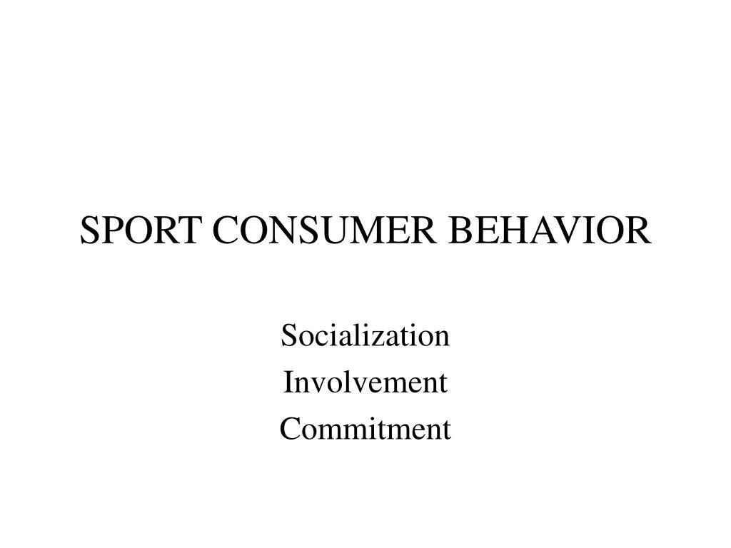 sport consumer behavior l.