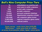 bell s nine computer price tiers