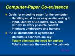 computer paper co existence