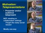 motivation telepresentations