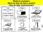 platform evolution what do they do that s useful how do they communicate