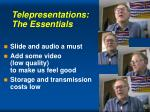 telepresentations the essentials