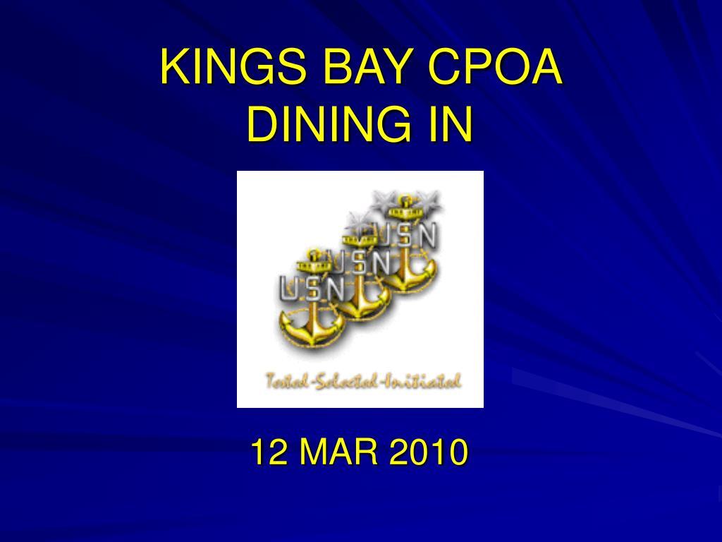 kings bay cpoa dining in l.