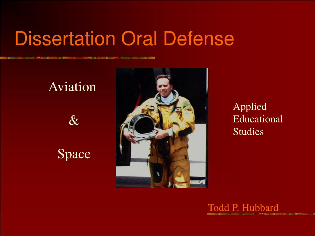 Dissertation oral defense