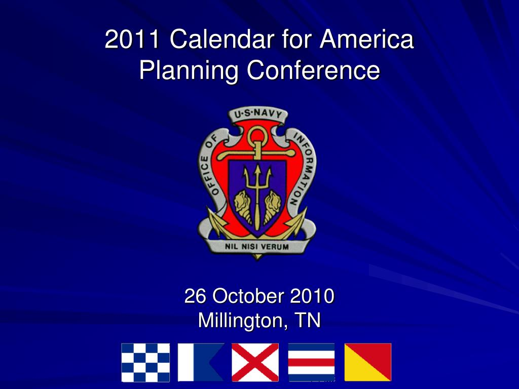 2011 calendar for america planning conference l.