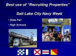 best use of recruiting properties salt lake city navy week