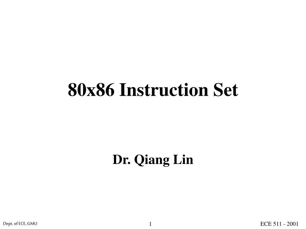 80x86 instruction set l.