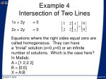 example 4 intersection of two lines