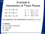 example 6 intersection of three planes