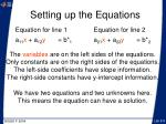 setting up the equations8