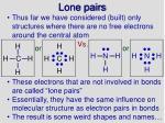 lone pairs