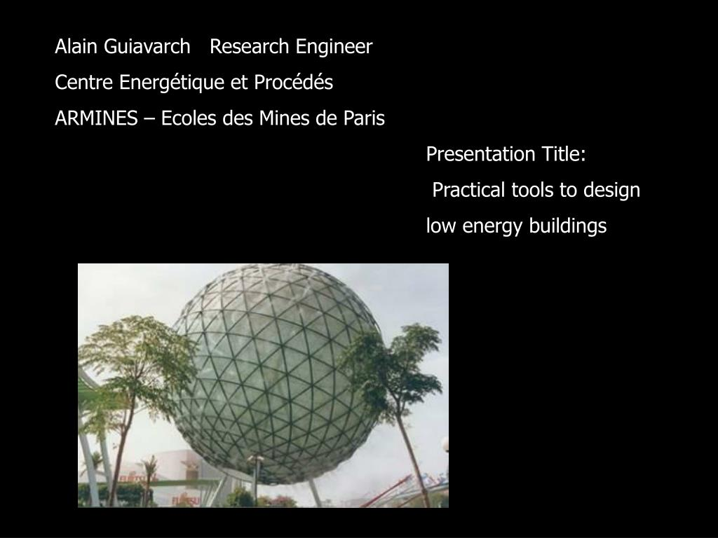 Alain Guiavarch   Research Engineer