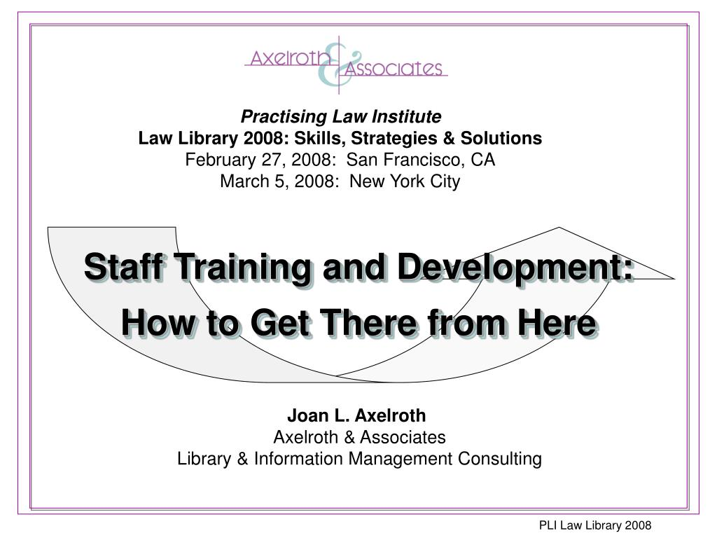 staff training and development how to get there from here l.