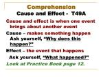 comprehension cause and effect t49a