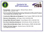 contacts for epp information