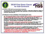 dear flow down clause for sub contracts