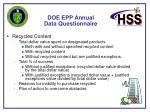 doe epp annual data questionnaire43