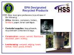 epa designated recycled products