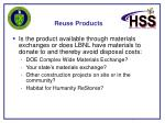 reuse products