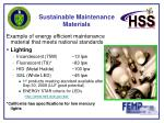 sustainable maintenance materials