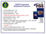 usda proposed biobased products16
