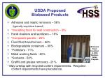 usda proposed biobased products17