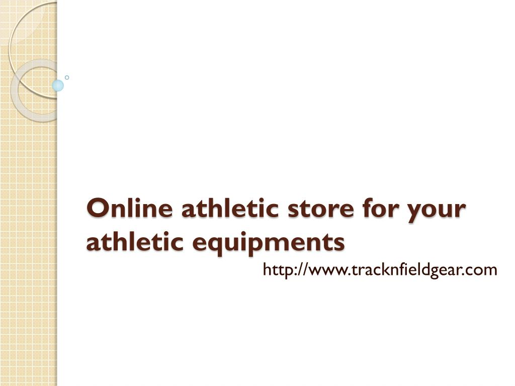 online athletic store for your athletic equipments l.