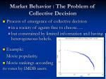 market behavior the problem of collective decision