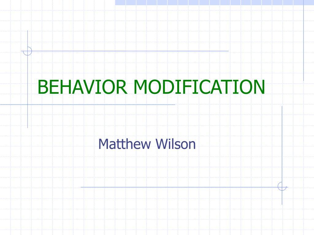 behavior modification l.