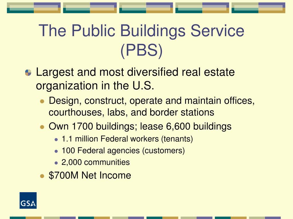 The Public Buildings Service (PBS)