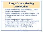 large group meeting assumptions