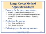 large group method application stages