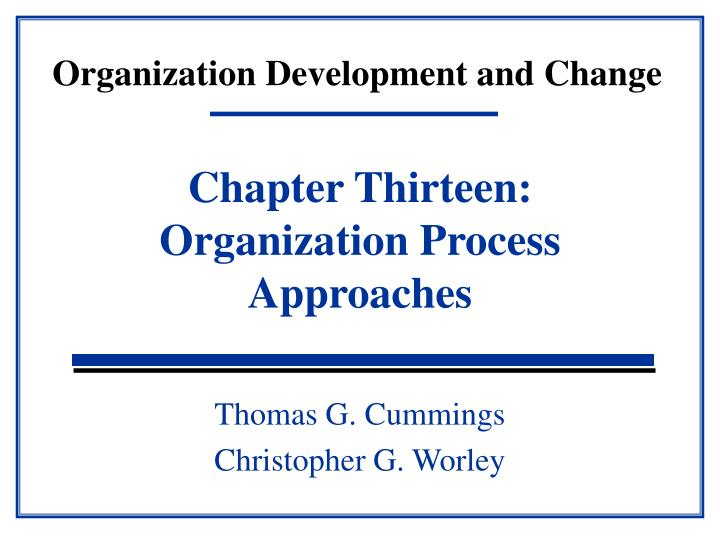 organization development and change n.