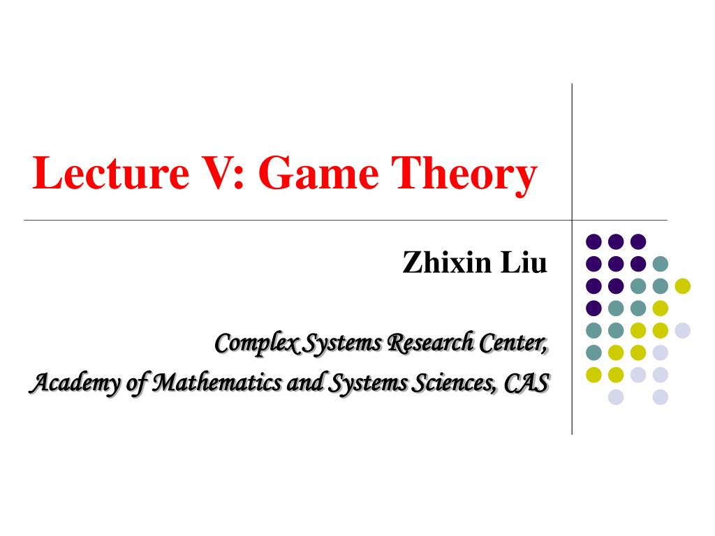 lecture v game theory l.