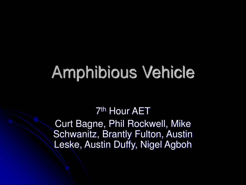 amphibious vehicle l.