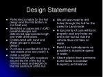 design statement