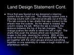 land design statement cont
