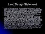 land design statement