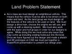 land problem statement