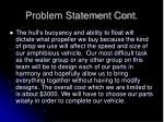 problem statement cont