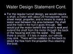 water design statement cont