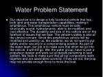 water problem statement