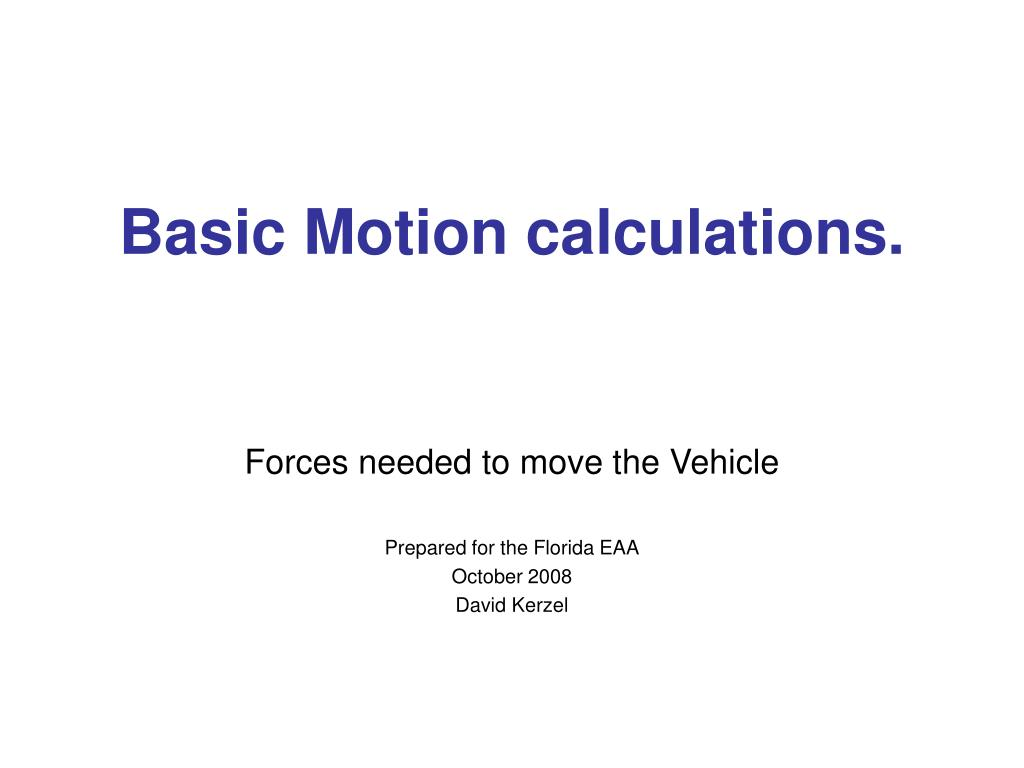 basic motion calculations l.