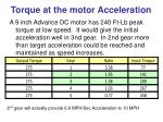 torque at the motor acceleration16