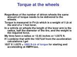 torque at the wheels