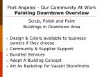 port angeles our community at work painting downtown overview