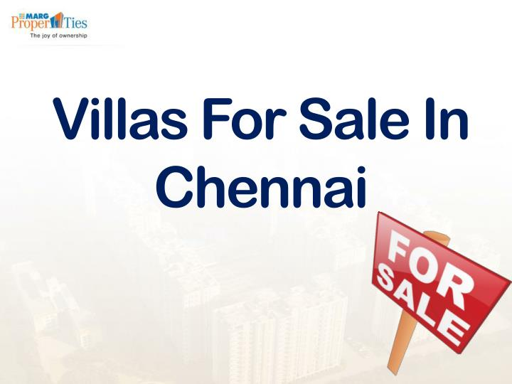Villas for sale in chennai