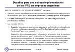 desaf os para una exitosa implementaci n de las ifrs en empresas argentinas
