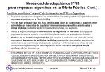 necesidad de adopci n de ifrs para empresas argentinas en la oferta p blica cont5